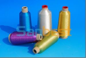 Colorful Metallic Embroidery Thread with Rayon Core Yarn pictures & photos