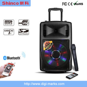12 Inch Bluetooth Portable Mini Multimedia PA Prefessional Amplifier Speaker pictures & photos
