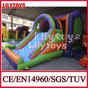 Hot 0.55mm PVC Tarpaulin Small Indoor Inflatable Slide for Sale (J-BC-049)
