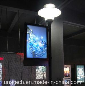 Outdoor Media Image Street Light Pillar Advertising LED Banner Film PVC Light Box pictures & photos