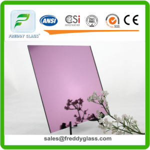 Hot Sale! ! Golden Wave/ Pink/Golden Diamond Reflective Glass/Colored Mirror/Decorative Glass pictures & photos