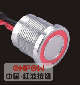 Onpow 19mm Piezo Switch with Ring Light (PS193P10YSS1R12L, CCC, CE) pictures & photos