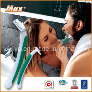 Twin Stainless Steel Blade Personal Care Shaving Razor (LY-2421) pictures & photos