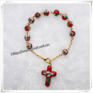 8mm Red Color Cloisonne Beads Rosary Bracelet (IO-CB076) pictures & photos