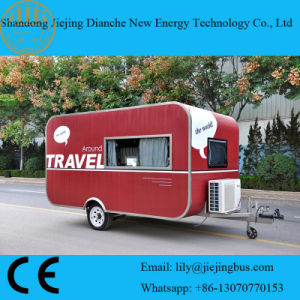Ce Certificated Red Color Stainless Steel Food Trailer pictures & photos