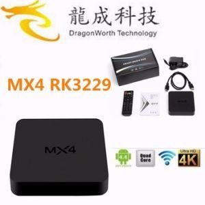 High Quality Rk3229 TV Box Mx4 Smart Streaming TV Box Kodi 15.2 Quad Core 4k Android TV Box pictures & photos