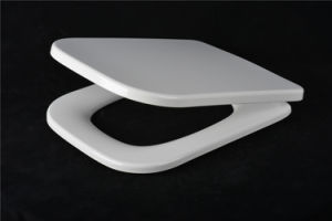 Modern Style Square Shape Never Fade Soft Close Toilet Lid Cover pictures & photos