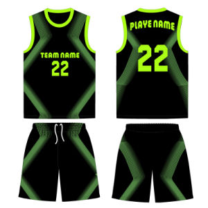 Boys and Girls Sublimation Basketball Jersey T Shirt Uniform pictures & photos