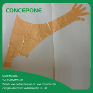 90cm Long PE Veterinary Shoulder Protect Glove with Neck Strap pictures & photos
