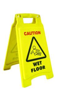 Double Side Plastic Hazard Wet Floor Sign (YYAS-002) pictures & photos