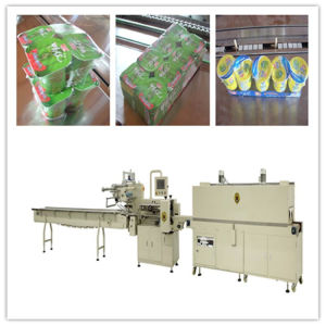 Yoghourt Shrink Packing Machine with Feeding Machine pictures & photos