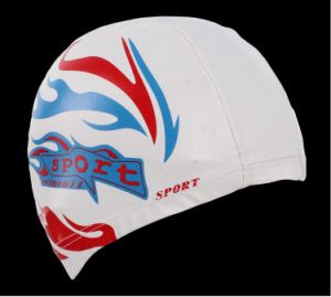 Adult Size Lycra Swim Cap with PU Coat Swim Hat pictures & photos