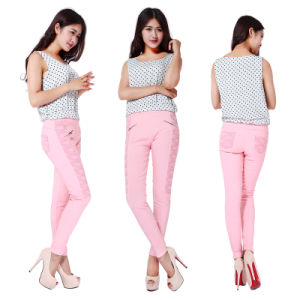 2 Side Lace Decorated Leisure Pants China Wholesale
