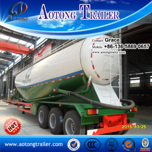 China 60 Tons V Shape Powder Cement Bulk Tanker Semitrailer, Dry Bulk Cement Tank Truck Trailers (volume optional) for Sale pictures & photos
