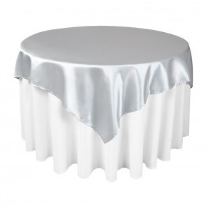 Polyester Satin Table Silver Overlays for Wedding pictures & photos