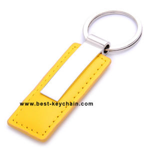 PU Leather and Metal Promotion Keychain Gifts (BK21433) pictures & photos