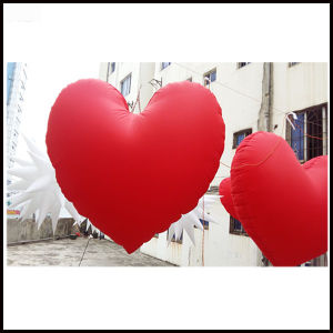 1.5m LED Inflatable Red Heart Balloon for Valentine′s Day Decoration pictures & photos