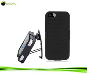 Advanced Armor Hybrid Kickstand Case and Screen Protector for iPhone 5 (Black)