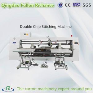 Three Servo Driver Double Chip Nail Box Stitching Machine pictures & photos