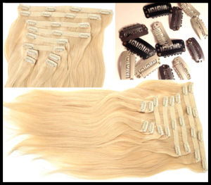 New Arrival 100% Remy Human Hair, Clip on Hair Extension (bhf031) pictures & photos
