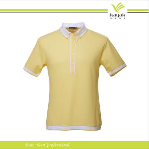 Custom 100% Cotton Single Jersey Polo T-Shirt (P-59) pictures & photos