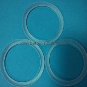 Custom Size Food Grade Transparent Silicone O Ring pictures & photos