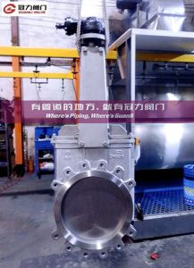Titanium Knife Gate Valve for Water Treatment Industry pictures & photos