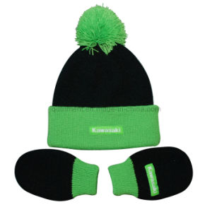 Infant Roll up Acrylic Knitted Glove and Beanie Set (TRK043) pictures & photos