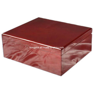 Customized Red Wood Color High Gloss Wooden Box (HYW003) pictures & photos