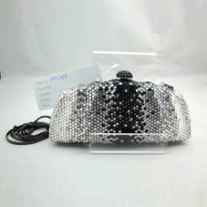 Crystal Evening Bag (WHC416-1blk+silver)