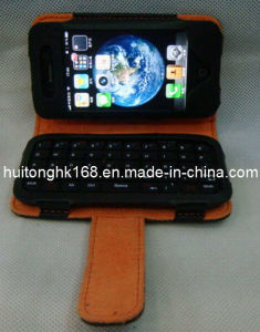 Leather Case Bluetooth Leyboard for iPhone