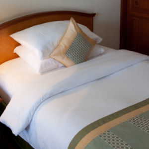 Hotel Linen 100%Cotton White Bedsheets (DPF9029) pictures & photos