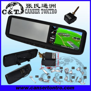 "4.3"" Car Rear View Mirror GPS LCD Monitor With Camera Kit (RVGSMDD)"