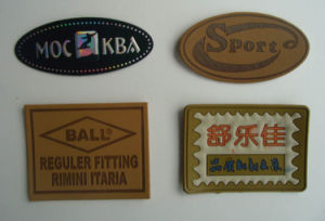 Excellent Label - Leather Label Alibaba China Supplier Wholesale Custom Embossed Jeans Leather Patch pictures & photos