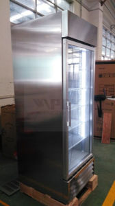 Vertical Stainless Commercial Kitchen/Supermarlket Refrigerator pictures & photos