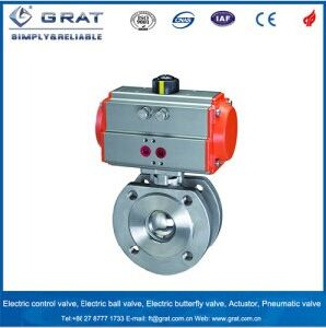 Stainless Steel Pneumatic Ball Valve pictures & photos