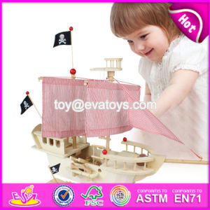 New Design Children DIY Wooden Pirate Ship Toy W03b056 pictures & photos
