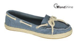 Women′s Casual Espadrille Canvas Flat Mocassin Shoes pictures & photos