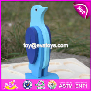 New Product DIY 3D Penguin Wooden Animal Jigsaw Puzzles W14G041 pictures & photos