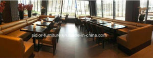 (SD-1011K) Hotel Restaurant Dining Furniture Set for Wooden Leather Booth Sofa pictures & photos