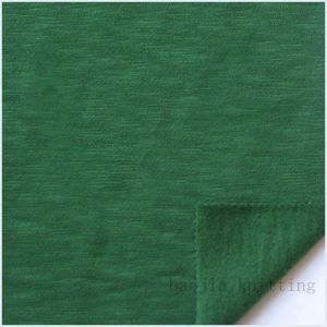 CVC Slubbed Fleece Knitting Fabric