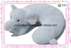 Blue Soft Plush Elephant Neck Pillow (XDT-0270) pictures & photos
