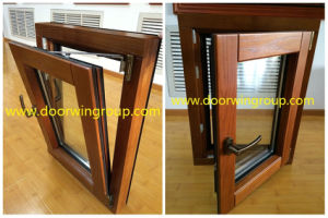 Imported Pure Solid Wood Aluminum Window (Tilt Turn Design) , Aluminum Clad Red Oak Wood American Standard Tilt & Turn Window pictures & photos
