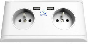 French USB Wall Socket, France USB Wall Socket, Poland USB Wall Socket pictures & photos