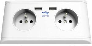 French USB Wall Socket, France USB Wall Socket, Poland USB Wall Socket pictures & photos