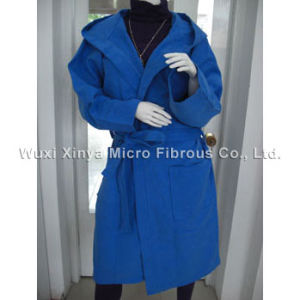 Microfiber Bathrobe/ Suede Bathrobe pictures & photos