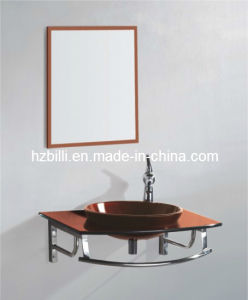 Glass Basin Hung Bathroom Cabinet From China
