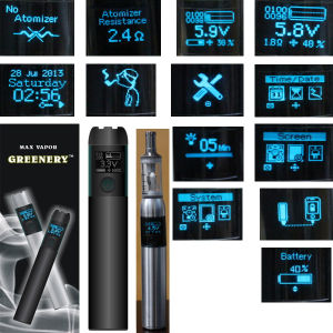 Greenery Max Vapor Atomizer Ohm Meter Visual Operate System