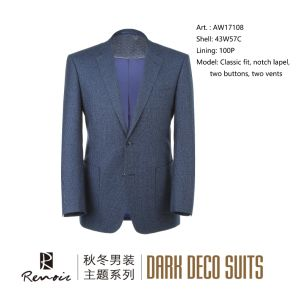 OEM Classic Fit Notch Lapel Wool Men′s Blazer pictures & photos