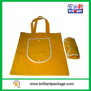 Promotional Folded Non-Woven Shopping Bag for Supmarket Shopping pictures & photos